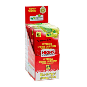 High5 EnergySource - Nutrition sport - Lemon 12 x 47g jaune/rouge